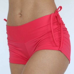 LaLa Land Yoga Wear Baby Cake Shorts - Scarlet (M)