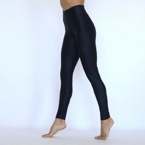 LaLa Land Yoga Wear Leggings High-Low Rise - Onyx (M)
