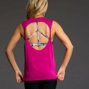 Onzie Yoga Wear Twist Back Top - Summer Rose