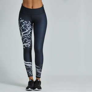 Noli Yoga Wear Black Tree Legging (S/M)