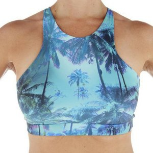 LaLa Land Yoga Wear Nikki Top - Palm Tree (M)