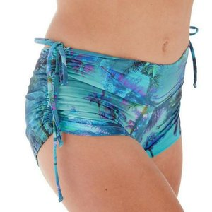 LaLa Land Yoga Wear Baby Cake Shorts - Palm Tree