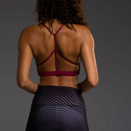Onzie Yoga Wear Pyramid Bra - Burgundy