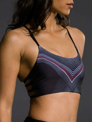 Onzie Yoga Wear Graphic Vinyasa Bra - Black Moon (S)