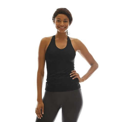 K-DEER Tank Top with Shelf Bra - Solid Black