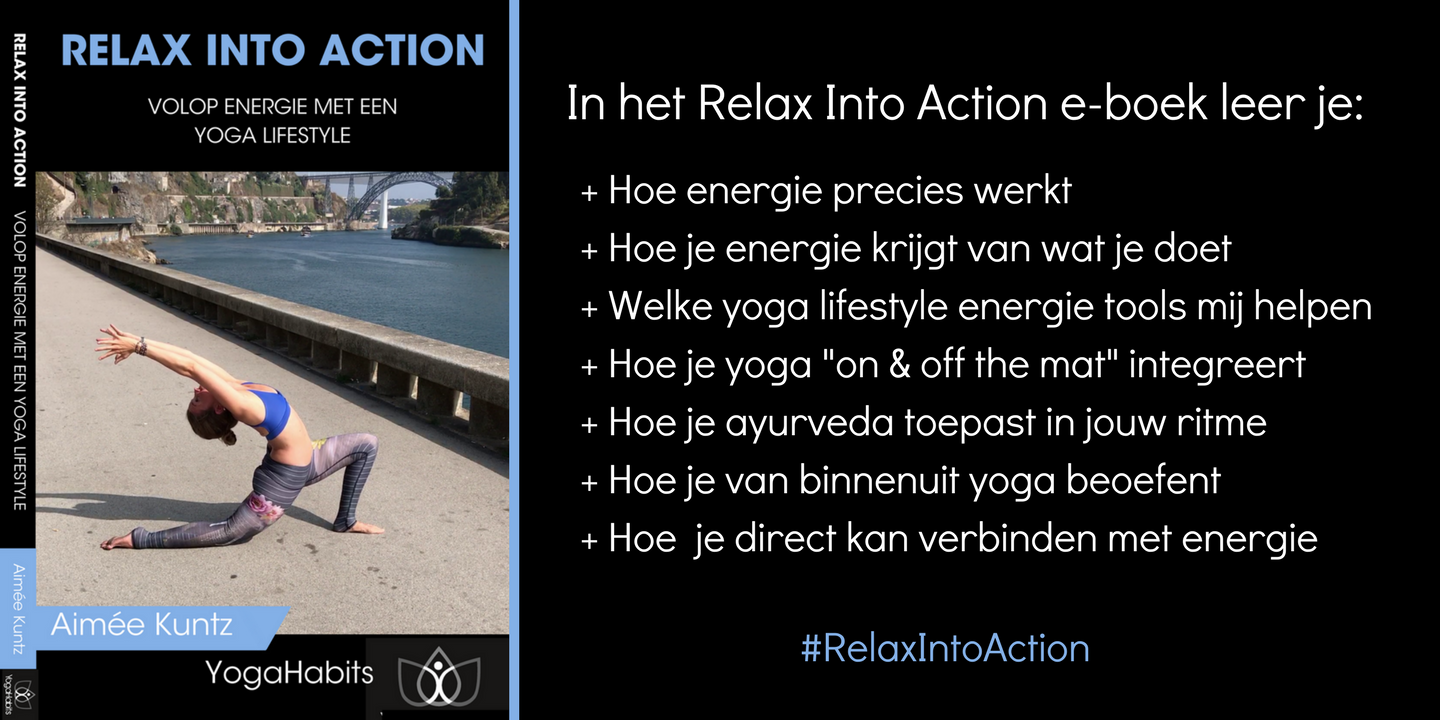 Yoga Book Relax Into Action | Volop energie met een yoga lifestyle