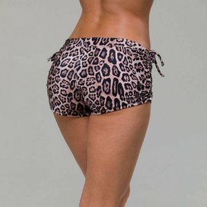 Onzie Yoga Wear Side String Short - Leopard