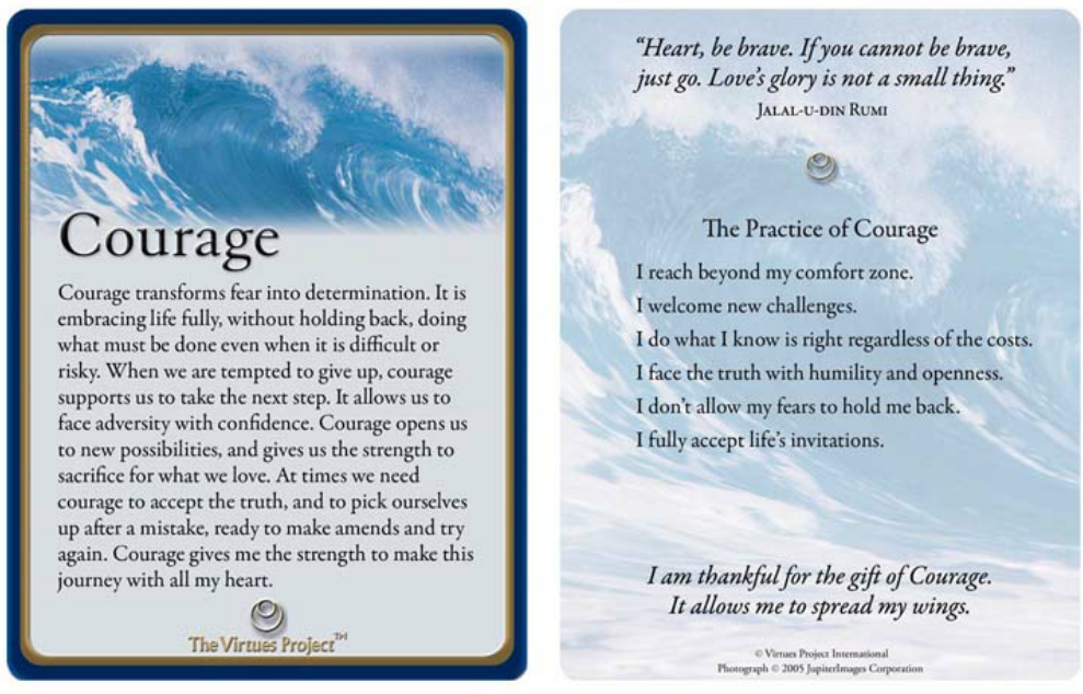Credit: The Virtues Project™ Reflection Cards