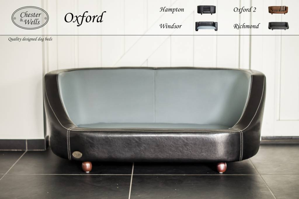 Chester & Wells Oxford Hondenbank small zwart
