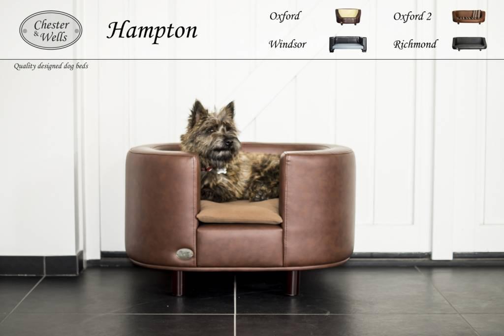Chester & Wells Hampton Hondenbank medium bruin