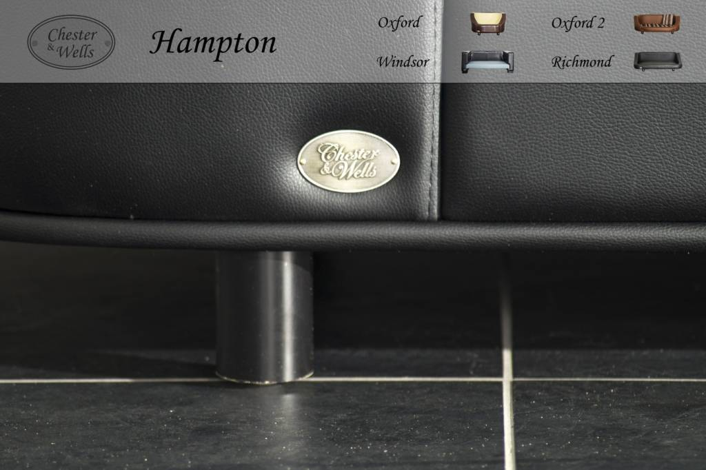 Chester & Wells Hampton Hundesofa schwarz large