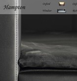 Chester & Wells Hampton Hondenbank large zwart