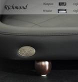 Chester & Wells Richmond Hondenbank small zwart