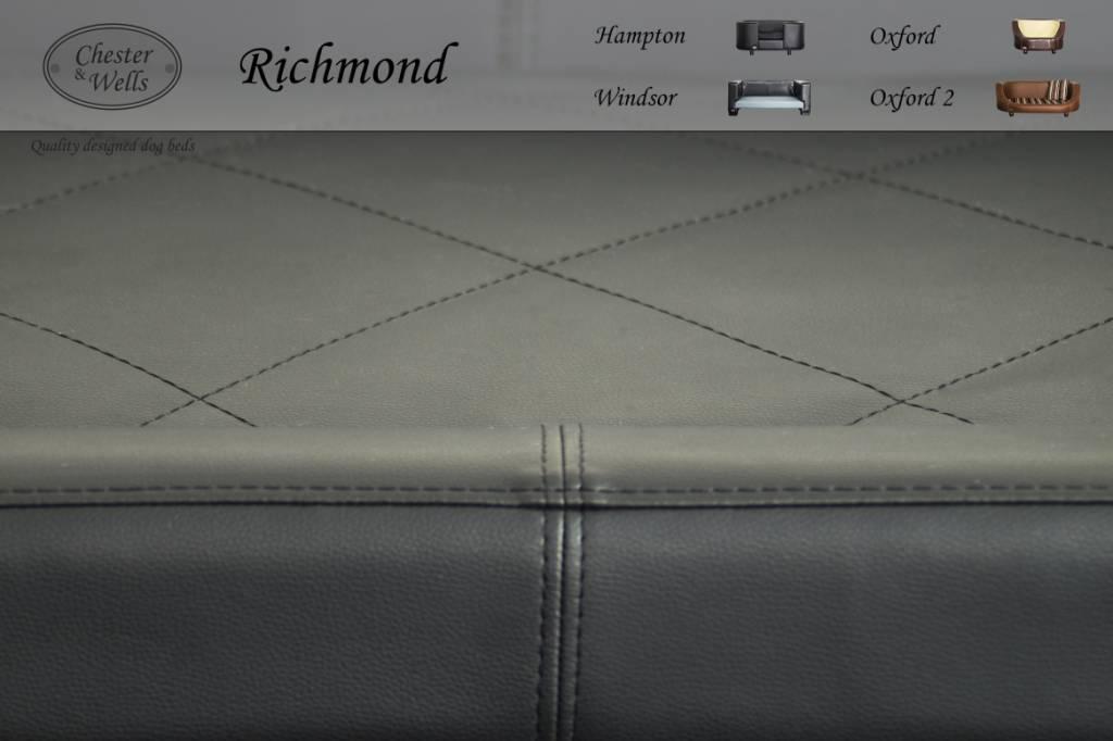 Chester & Wells Richmond Hondenbank medium zwart