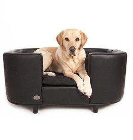 Chester & Wells Hampton Sofás para perros negro tamaño mediano