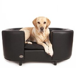 Chester & Wells Hampton Hundesofa schwarz large