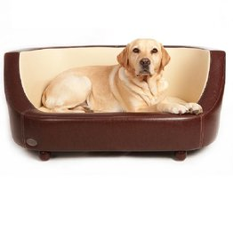 Chester & Wells Oxford Hundecouch braun small