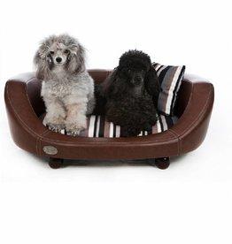 Chester & Wells Banc pour chien Oxford II de coleur brune small taille