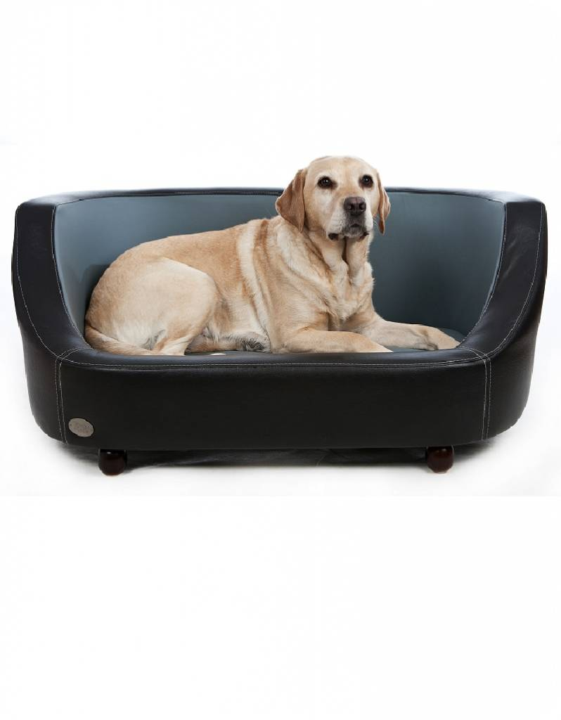 Chester & Wells Oxford Hundecouch schwarz large