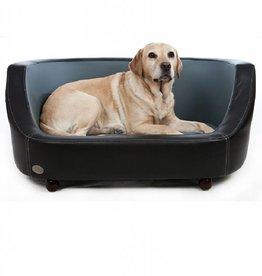 Chester & Wells Oxford Hundecouch schwarz medium