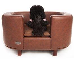 Chester & Wells Banc pour chien Hampton de couleur brune large taille