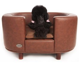 Chester & Wells Hampton Dog bed brown size large