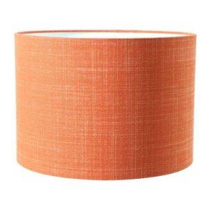 Light & Living Lampenkap 25 cm Cilinder DUNE CORAL Donker Oranje