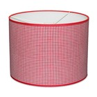 Taftan Lampenkap 35 cm Cilinder Kleine Ruit 3 mm Rood