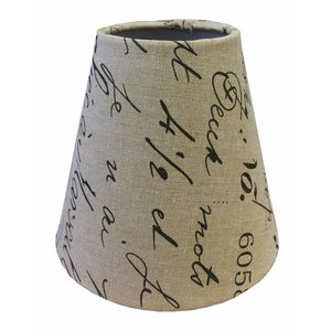 Eglo Klem Lampenkap 14 cm POSTMARK Bruin op Beige