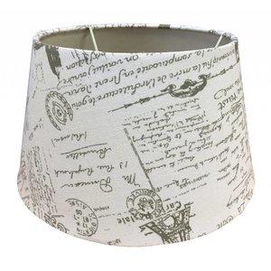 Eglo Lampenkap 25 cm Drum POSTMARK Grijs op Wit