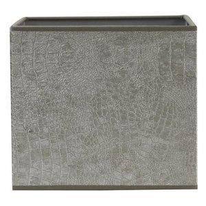 Light & Living Lampenkap 17 cm Vierkant CHELSEA Velours Zilver