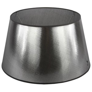 Collectione Lampenkap 45 cm Drum AZZURO Zilver