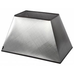 Collectione Lampenkap 25 cm Rechthoek AZZURO Zilver