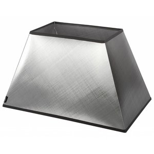 Collectione Lampenkap 30 cm Rechthoek AZZURO Zilver