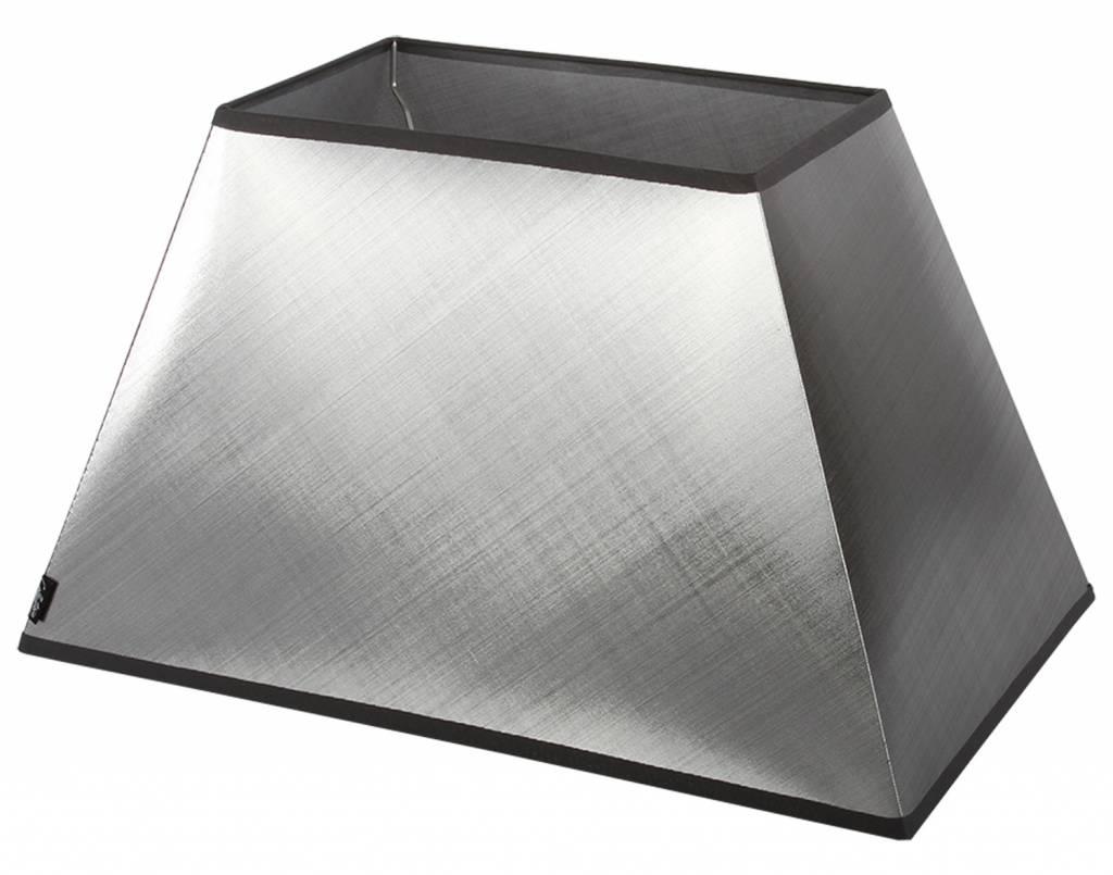 Lampenkap 40 cm rechthoek azzuro zilver for Collectione lampen