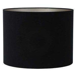 Light & Living Lampenkap 25 cm Cilinder VELOURS Zwart
