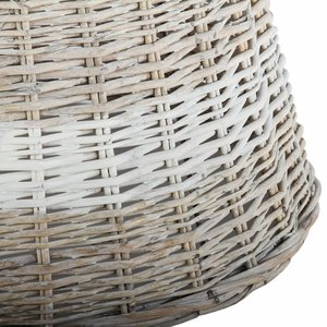 Collectione Lampenkap 40 cm Drum RIVIERA BEACH Grey Wash met Witte baan
