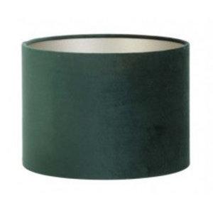 Light & Living Lampenkap 25 cm Cilinder VELOURS Dutch Green