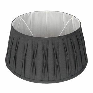 Collectione Lampenkap 30 cm Drum Plisse RIVA Grijs