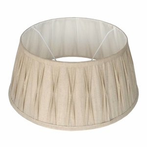 Collectione Lampenkap 25 cm Drum Plisse RIVA Naturel
