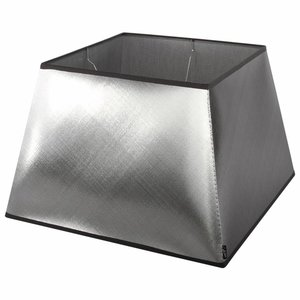 Collectione Lampenkap 25 cm Vierkant AZZURO Zilver
