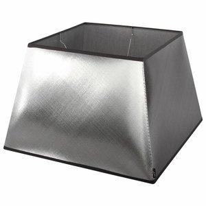 Collectione Lampenkap 30 cm Vierkant AZZURO Zilver