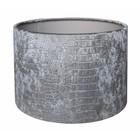 RamLux Lampenkap 35 cm Cilinder CROC Velours Zilver