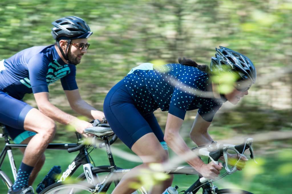 Good Cycling Wielerbroek diep blauw dames
