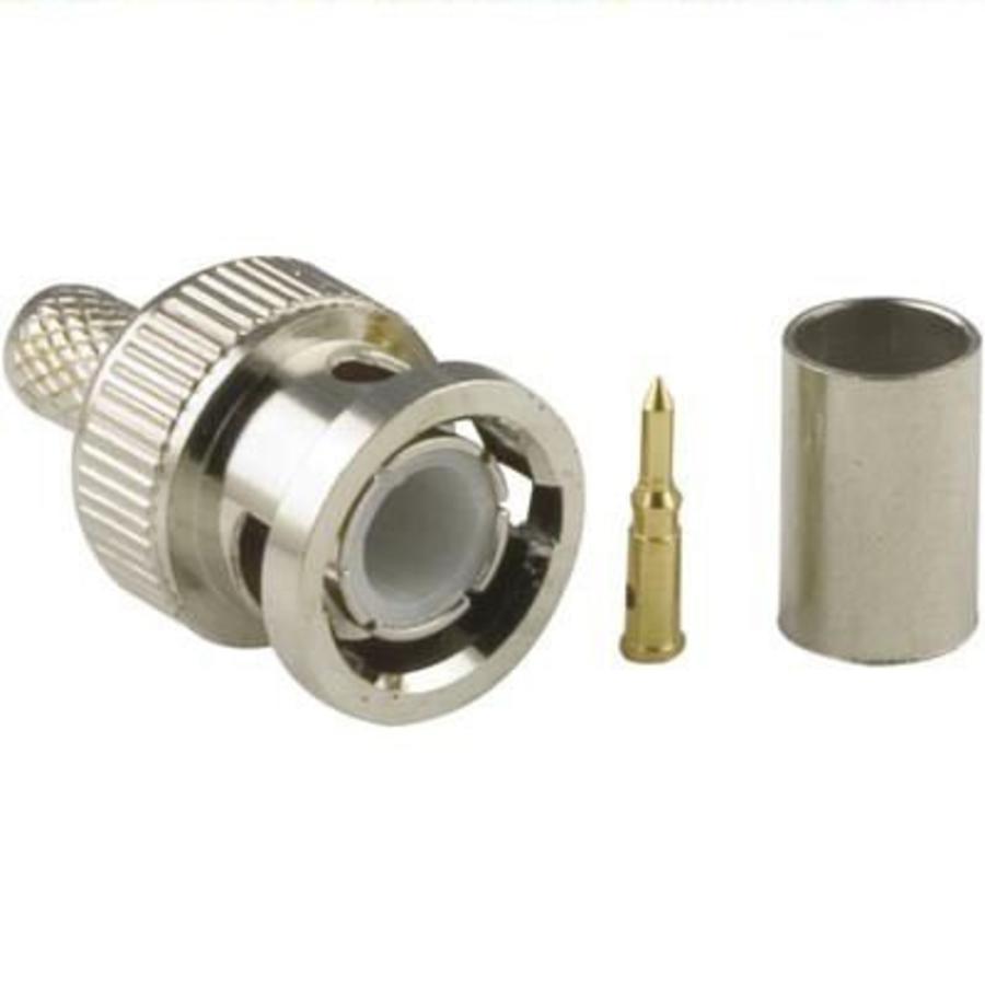BNC krimp connector voor RG59 kabel
