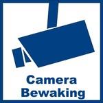 """Sticker """"camerabewaking"""" 5.3 x 5.3 cm buitenkant raam/deur - 2 stuks"""