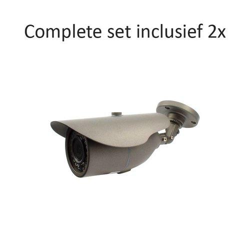CC-CS02BC2 - 4 kanaals CVR inclusief 2 CC-BC2 camera's
