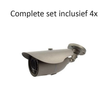 CC-CS04BC2 - 4 kanaals CVR inclusief 4 CC-BC2 camera's