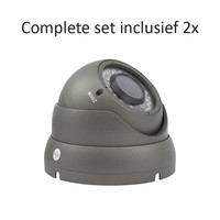 CC-CS02DC2 - 4 kanaals CVR inclusief 2 CC-DC2 camera's