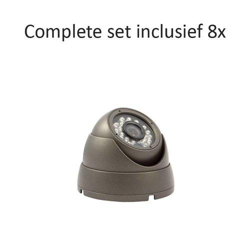 CC-CS08DC1 - 8 kanaals CVR inclusief 8 CC-DC1 camera's